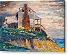 Acrylic Print featuring the painting Abandoned Beach House by Dan Redmon