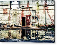 Abandoned Factory Interior Acrylic Print by HD Connelly
