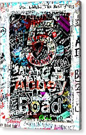 Abbey Road Graffiti Acrylic Print by Stephen Stookey