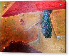 Acrylic Print featuring the painting Abby Marion by Iris Gelbart