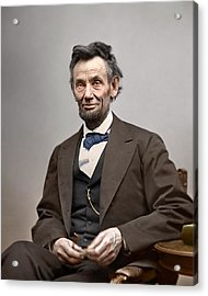 Abe Lincoln President Acrylic Print by Retro Images Archive