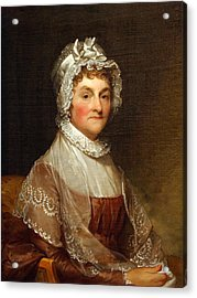 Acrylic Print featuring the photograph Abigail Smith Adams By Gilbert Stuart by Cora Wandel