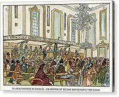 Abolition Cartoon, 1859 Acrylic Print
