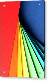 Abstract Background With Color Papers Acrylic Print by Colormos
