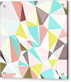Abstract Background With Triangles And Acrylic Print by Romas photo