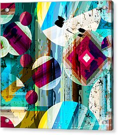 Abstract Geometric Pattern Background Acrylic Print