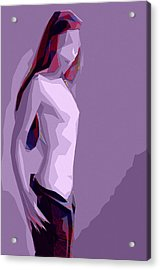 Abstract Girl Acrylic Print by Steve K