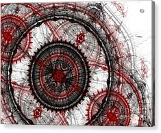 Abstract Mechanical Fractal Acrylic Print by Martin Capek