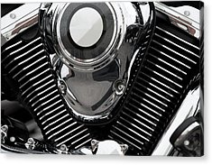 Abstract Motorcycle Engine Acrylic Print by Andrew Dernie