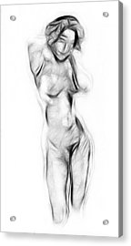 Abstract Nude Acrylic Print by Steve K