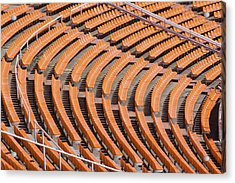 Abstract Pattern - Rows Of The Stadium's Seats Acrylic Print