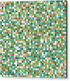 Acrylic Print featuring the digital art Abstract Pixels by Mike Taylor