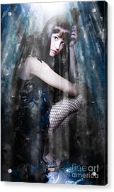 Actress In Stage Spotlight Acrylic Print