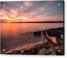 Adriatic Sunset II Acrylic Print by Davorin Mance