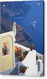 Aegean View Acrylic Print by Aiolos Greek Collections