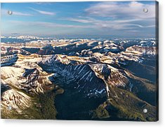 Aerial Of The Rocky Mountains Acrylic Print
