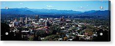 Aerial View Of A City, Asheville Acrylic Print by Panoramic Images