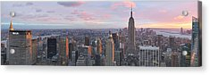 Aerial View Of A City, Midtown Acrylic Print by Panoramic Images