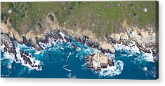 Aerial View Of A Coast, Big Sur Acrylic Print by Panoramic Images