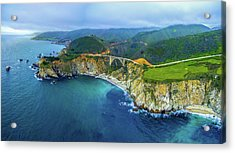 Aerial View Of Bixby Creek Bridge Acrylic Print