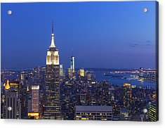 Aerial View Of Empire State And Midtown Acrylic Print by Future Light