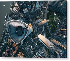 Aerial View Of Shanghai Acrylic Print by Ansonmiao