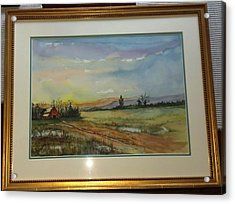 Acrylic Print featuring the painting After The Rain Storm by Richard Benson