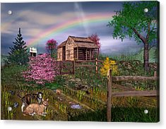 After The Storm Acrylic Print by Mary Almond