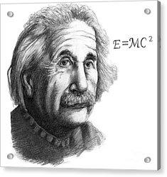 Albert Einstein, German-american Acrylic Print by Spencer Sutton