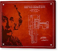 Albert Einstein Patent Drawing From 1930 Acrylic Print by Aged Pixel