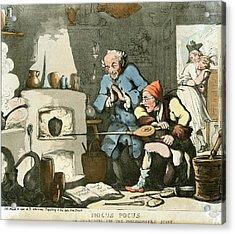 Alchemist At Work Acrylic Print by Chemical Heritage Foundation/science Photo Library