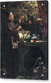 Alchemist At Work Acrylic Print by Will Brown/chemical Heritage Foundation/science Photo Library