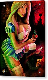 Alice, Eat Me Acrylic Print