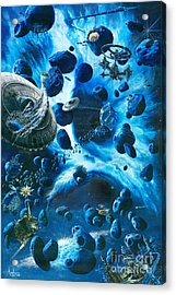 Alien Pirates  Acrylic Print by Murphy Elliott