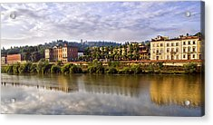 Along The Arno Acrylic Print