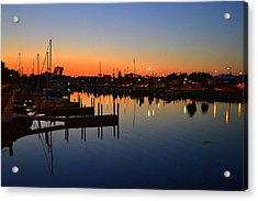 Alpena Small Boat Harbor Acrylic Print