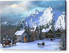 Alpine Christmas Acrylic Print by Dominic Davison