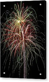 Amazing Fireworks Acrylic Print by Garry Gay