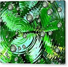 Amazing. Abstract Art. Green Grey  Blue Yellow  Acrylic Print