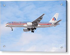 Amercian Airlines Boeing 757 Airplane Landing Acrylic Print