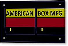 Acrylic Print featuring the digital art American Box Mfg by Cletis Stump