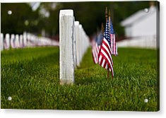 Acrylic Print featuring the photograph American Flag by Jerry Gammon