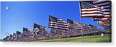 American Flags In Memory Of 911 Acrylic Print by Panoramic Images
