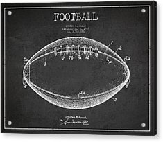 American Football Patent Drawing From 1939 Acrylic Print
