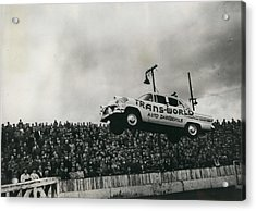 American Stunt Car Drivers Give Displays In Edinburgh Acrylic Print by Retro Images Archive