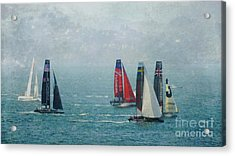 Americas Cup Racing Acrylic Print by Scott Cameron