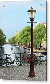 Amsterdam, Holland, Old Gas Lamp Post Acrylic Print