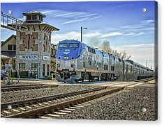 Acrylic Print featuring the photograph Amtrak 112 by Jim Thompson