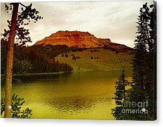An Alpine Lake Acrylic Print by Jeff Swan