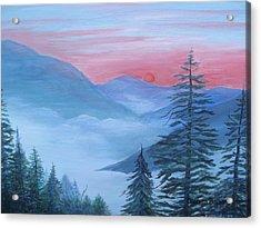 An Appalachian Morning Acrylic Print by Glenda Barrett